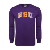 Purple Long Sleeve T Shirt-Arched NSU