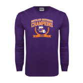 Purple Long Sleeve T Shirt-2015 Southland Conference Tennis Champions