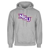 Grey Fleece Hoodie-NSU