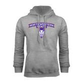 Grey Fleece Hoodie-Arched Northwestern State w/Demon Head