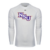 Under Armour White Long Sleeve Tech Tee-NSU