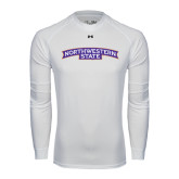 Under Armour White Long Sleeve Tech Tee-Arched Northwestern State