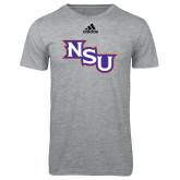 Adidas Sport Grey Logo T Shirt-NSU