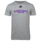 Adidas Sport Grey Logo T Shirt-Arched Northwestern State
