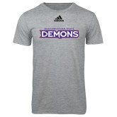 Adidas Sport Grey Logo T Shirt-Northwestern State Demons