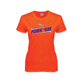 Ladies Orange T Shirt-Fork Em