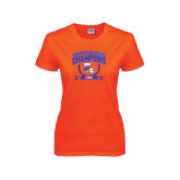 Ladies Orange T Shirt-2015 Southland Conference Tennis Champions