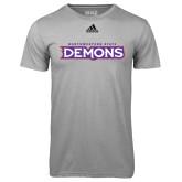 Adidas Climalite Sport Grey Ultimate Performance Tee-Northwestern State Demons