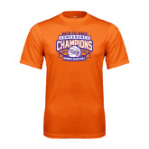 Performance Orange Tee-Womens Basketball Back To Back Champions