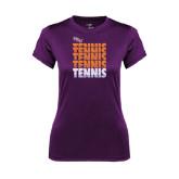 Ladies Syntrel Performance Purple Tee-Tennis Repeating