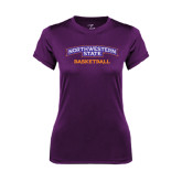 Ladies Syntrel Performance Purple Tee-Basketball