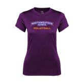 Ladies Syntrel Performance Purple Tee-Volleyball