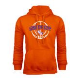 Orange Fleece Hoodie-Demons Basketball Arched