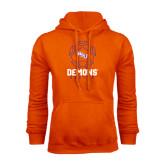 Orange Fleece Hoodie-Demons Soccer Geometric