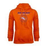 Orange Fleece Hoodie-Demons Volleyball Stacked