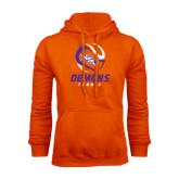 Orange Fleece Hoodie-Tennis Abstract Ball
