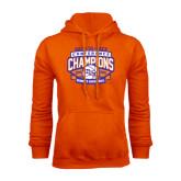 Orange Fleece Hoodie-Womens Basketball Back To Back Champions