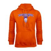 Orange Fleece Hoodie-Arched Northwestern State w/Demon Head