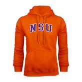 Orange Fleece Hoodie-Arched NSU