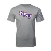 Grey T Shirt-NSU Distressed