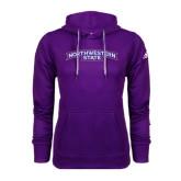 Adidas Climawarm Purple Team Issue Hoodie-Arched Northwestern State