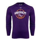 Under Armour Purple Long Sleeve Tech Tee-Demons Basketball Arched