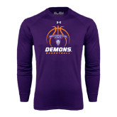 Under Armour Purple Long Sleeve Tech Tee-Demons Basketball Stacked