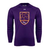 Under Armour Purple Long Sleeve Tech Tee-Soccer Shield