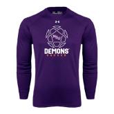 Under Armour Purple Long Sleeve Tech Tee-Demons Soccer Geometric