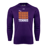 Under Armour Purple Long Sleeve Tech Tee-Tennis Repeating