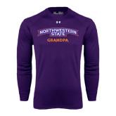 Under Armour Purple Long Sleeve Tech Tee-Grandpa