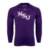 Under Armour Purple Long Sleeve Tech Tee-NSU