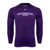 Under Armour Purple Long Sleeve Tech Tee-Arched Northwestern State