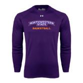 Under Armour Purple Long Sleeve Tech Tee-Basketball