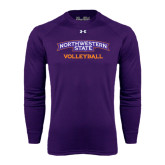 Under Armour Purple Long Sleeve Tech Tee-Volleyball