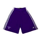 Adidas Climalite Purple Practice Short-Arched Northwestern State w/Demon Head