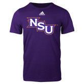 Adidas Purple Logo T Shirt-NSU