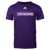 Adidas Purple Logo T Shirt-Northwestern State Demons