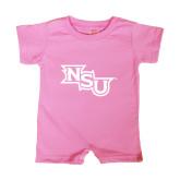 Bubble Gum Pink Infant Romper-NSU