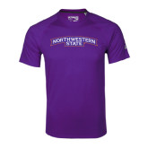 Adidas Climalite Purple Ultimate Performance Tee-Arched Northwestern State