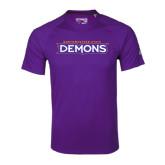 Adidas Climalite Purple Ultimate Performance Tee-Northwestern State Demons