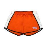 Ladies Orange/White Team Short-NSU