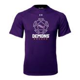 Under Armour Purple Tech Tee-Demons Soccer Geometric