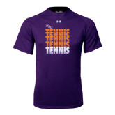Under Armour Purple Tech Tee-Tennis Repeating