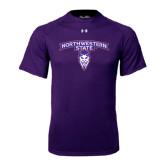Under Armour Purple Tech Tee-Arched Northwestern State w/Demon Head