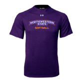 Under Armour Purple Tech Tee-Softball