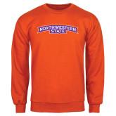 Orange Fleece Crew-Arched Northwestern State