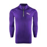 Under Armour Purple Tech 1/4 Zip Performance Shirt-NSU