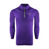 Under Armour Purple Tech 1/4 Zip Performance Shirt-Arched Northwestern State w/Demon Head