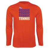 Performance Orange Longsleeve Shirt-Tennis Repeating